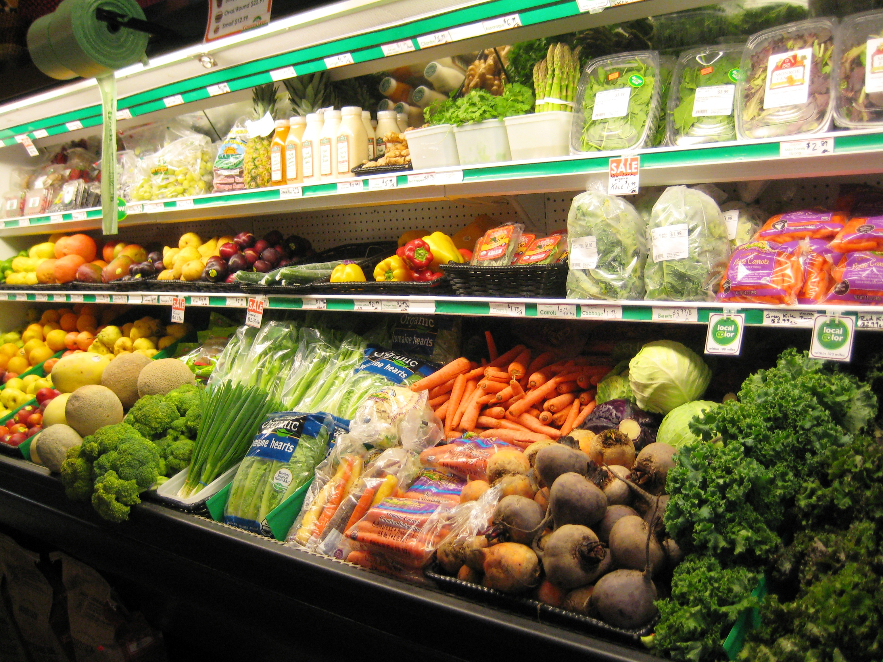We are proud to say that all of the produce we carry is certified organic, or no-spray local!
