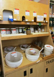 You can get peanut butter, almond butter, coconut oil, olive oil, and more in our bulk department!