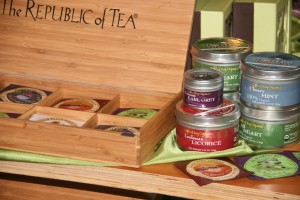 Republic of Tea and Light of Day teas can also be found at herbs etc.