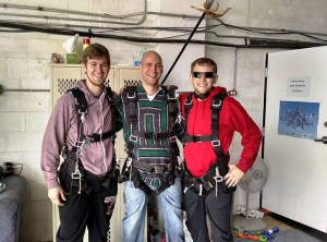 Eric and friends getting ready to go sky diving!